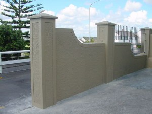 rough cast fence
